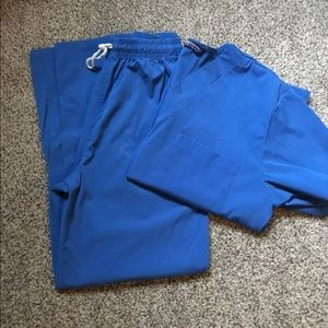 Small Blue Scrub Set